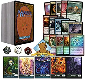 150 Assorted Magic: The Gathering Cards! No Duplication Includes 3 Spindown Counters, 5 Mythics, 15 Rares, 10 Foils With Storage Box! Includes 5 Custom Golden Groundhog Token Counters!