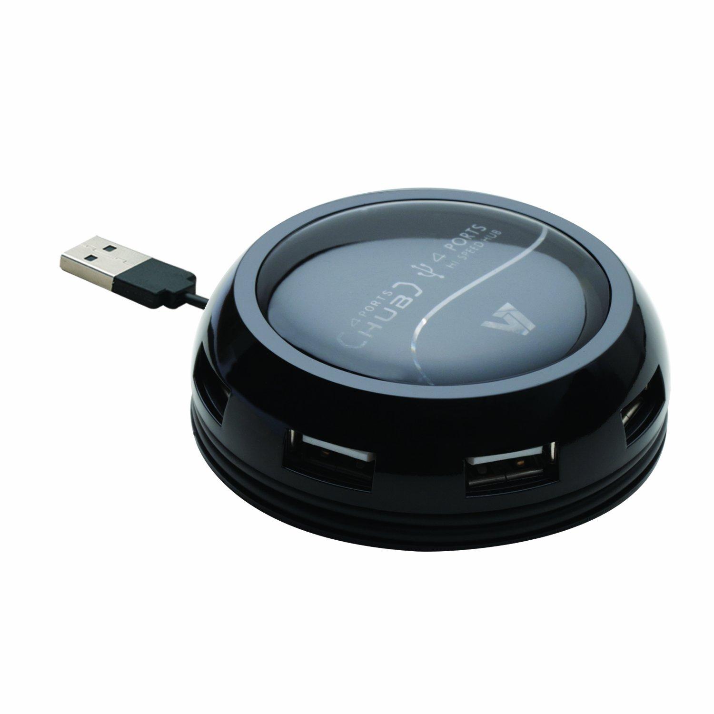 Hub USB Firewire V7 HU7203EP NOIR 7 PORTS