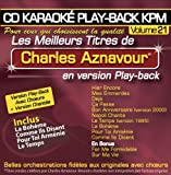 CD Karaoké Play-back KPM Vol. 21 ''Chrles Aznavour''