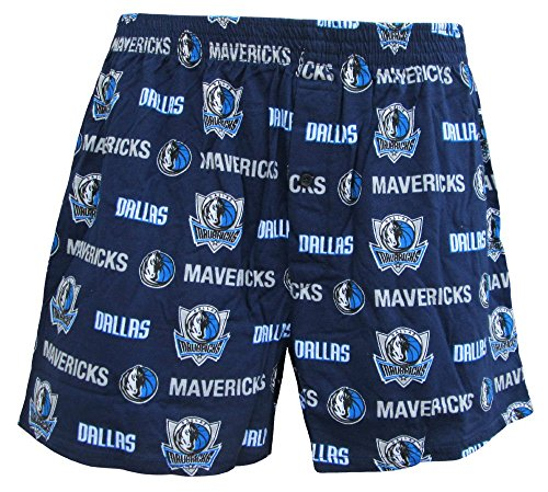 Dallas Mavericks Mens Navy NBA Keynote Boxer Shorts by