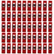 Sewing Craft Quilt Binding Plastic Clips Clamps Pack of 50 Clear and Red