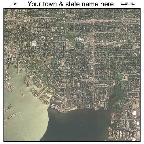 Aerial Photography Map of Gulfport, Florida
