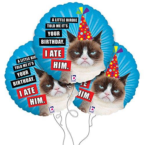 "Grumpy Cat ""Little Birdie"" Mylar Balloon 3 Pack"