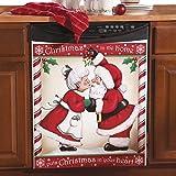 Kissing Santa Christmas Kitchen Dishwasher Cover, Small