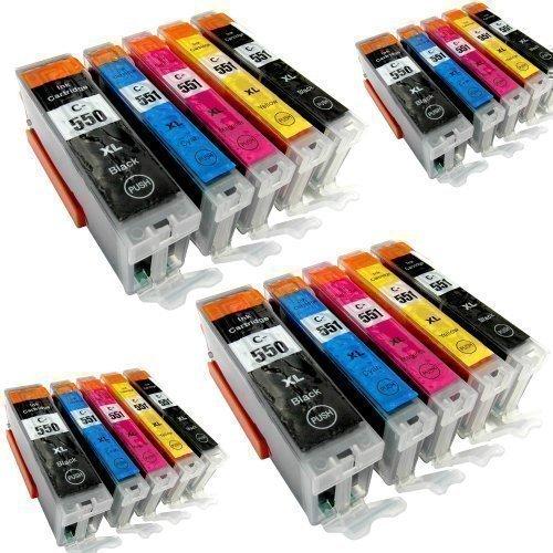 20 Youprint® YP-PGI550XL YP-CLI551XL Druckerpatronen MIT CHIP und Füllstandanzeige für Canon Pixma iP7250, MG5550, MG5650, MG6450, MG5450, MG6350, MG 7550, MX725, MX925, kompatibel zu PGI550BK , CLI551C , CLI551M, CLI551Y und CLI551BK