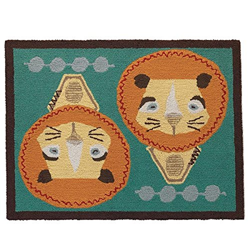 Lolli Living Zig Zag Zoo Rug, Lion