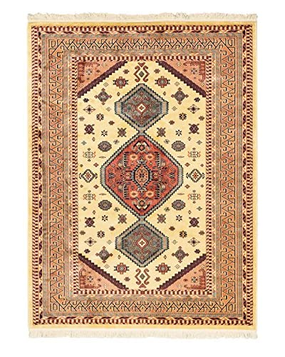 Persian Rug, Copper/Light Yellow, 5' 6 x 7' 5