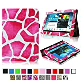 Fintie Slim Fit Folio Case Cover For Samsung Galaxy Note 10.1 Inch Tablet N8000 N8010 N8013 - Giraffe Magenta