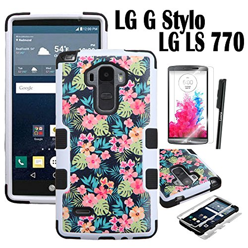 Click to buy LG G Stylo / LG G Stylus / LG LS770 Case, Luxca (Tm) LG G Stylo / LG G Stylus / LG LS 770 (T-mobile, sprint, boost mobile, metroPCS) Hybrid Heavy Duty Rugged Impact Advanced Armor Symbiosis Soft Silicone Cover Tuff Hard Robust Snap On Dynamic Case + Clear - From only $30