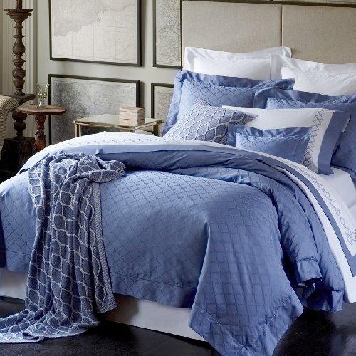 New Sferra Bruni 3345 Jacquard Cornflower Blue Pillow Sham