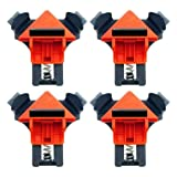 4pcs Right Angle 90°, Corner 45° Woodworking Clamps Multifunction 90 Degree Quick Picture Frame Clip Fixer for Carpenter Engineering Photo Framing