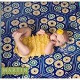 Photography Floor Drop Weathered Moroccan Tile Background Mat Cf1228 Rubber Backing, 4'x5' High Quality Printing, Roll up for Easy Storage Photo Prop Carpet Mat (Can Be Used for Decorating Home Also)