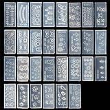 BMC Mix Design DIY 3D Silicone Nail Art Decortive Acrylic Cabochon Mold Kit - Set 4, 30pc Kit 1
