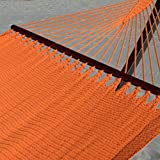 Double Caribbean Hammock - 48 inch - soft-spun polyester - orange