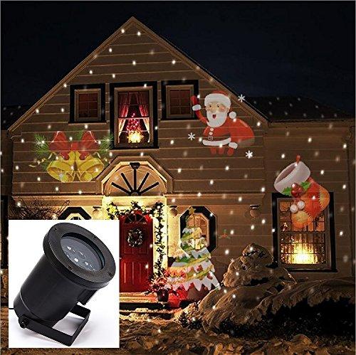 Decorazioni Natalizie Esterno Casa.Gesimei Led Proiettore 12 Immagini Di Natale Da Esterno Su Facciata