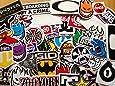 10 assorted skateboard stickers.