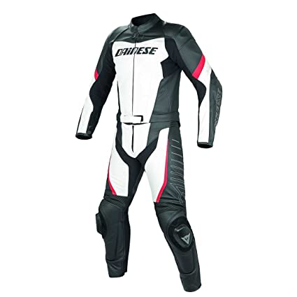 Dainese 1513416_777_50 TRacing Div Blanc/Noir/Rouge, Taille : 50