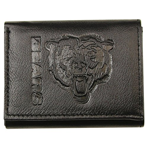 NFL Leather Wallet - Chicago Bears - Black (Bear Wallet compare prices)