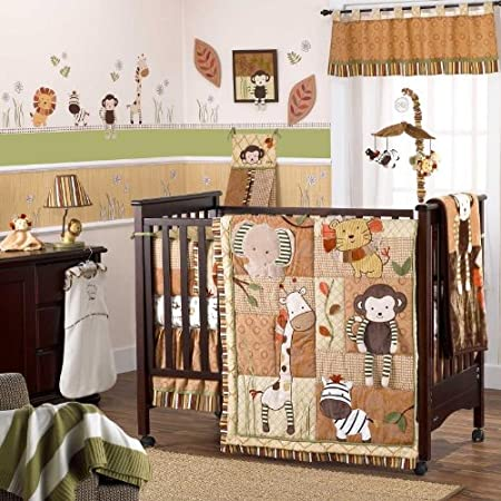 Cocalo Nali Jungle 6 Piece Baby Crib Bedding Set