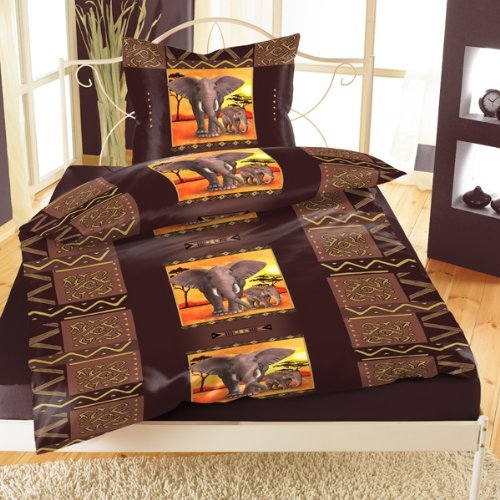 bettw sche de bettw sche mikrofaser 39 elefanten afrika 39 mit rv 2 teilig. Black Bedroom Furniture Sets. Home Design Ideas