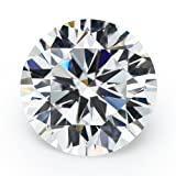 100PCS 5A Round Machine Cut White Cubic Zirconia Stones Loose CZ Stones JIANGYUANGEMS (6.5mm) (Color: white, Tamaño: 6.5mm)