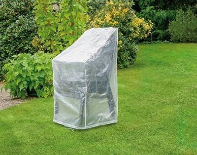 Schutzhülle für 6 Stapelsessel ca. 65x65x110/150 cm, transparent von Happy People - Gartenmöbel von Du und Dein Garten