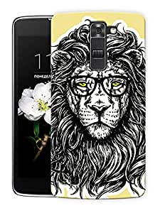 "King Jungle Enhanced Printed Designer Mobile Back Cover For ""LG K10"" By Humor Gang (3D, Matte Finish, Premium Quality, Protective Snap On Slim Hard Phone Case, Multi Color)"