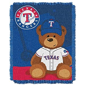 MLB Texas Rangers Field Woven Jacquard Baby Throw Blanket, 36x46-Inch by Northwest
