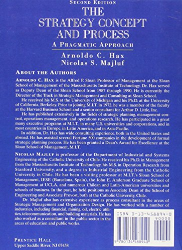 Strategy Concept and Process: A Pragmatic Approach, the
