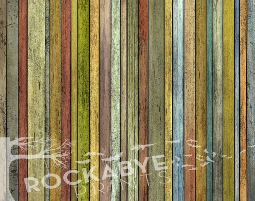 Photography Backdrop / Floordrop - 4Ft X 5Ft Thin Colored Wood - Durable Vinyl Backgroud front-360179