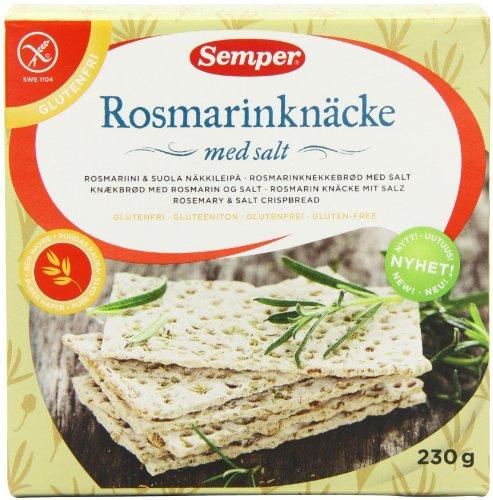 Semper GF Rosemary and Salt Crispbread 230 g (Pack of 2)
