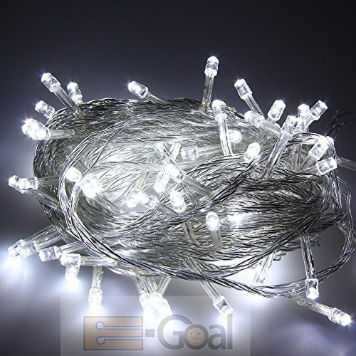 100 Led Fairy Light String Christmas Holiday Lights For Room Garden Home Decoration (White) front-15710
