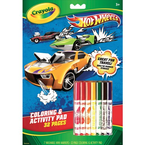 Crayola Hot Wheels Coloring and Activity Book with Markers - 1