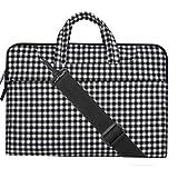 MOSISO-Segeltuchstoff-Hlle-Sleeve-Laptop-Aktentasche-fr-13-133-Zoll-MacBooks-Laptops-Form-Schwarz-wei-Karierte-Muster