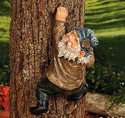Climbing Gnome - Yard Garden Decor - 11 Inch