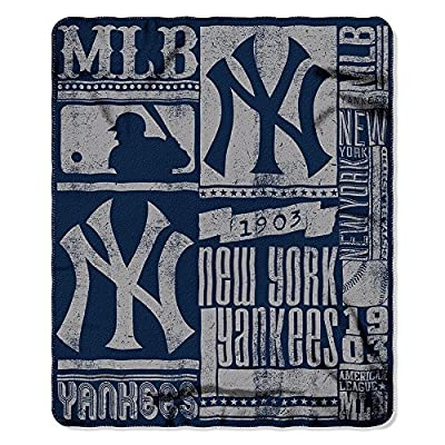 "MLB Fleece ""Strength Series"" Throw Blanket (50 Inches by 60 Inches)"