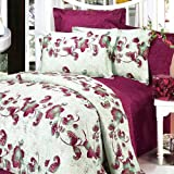 Blancho Bedding - [China Red] 100% Cotton 4PC Duvet Cover Set (Queen Size)