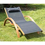 Outsunny Outdoor Wood Chaise Lounge C...