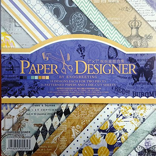 Craftdev 7x7 Inch Beautiful Pattern Design Printed Papers For Art