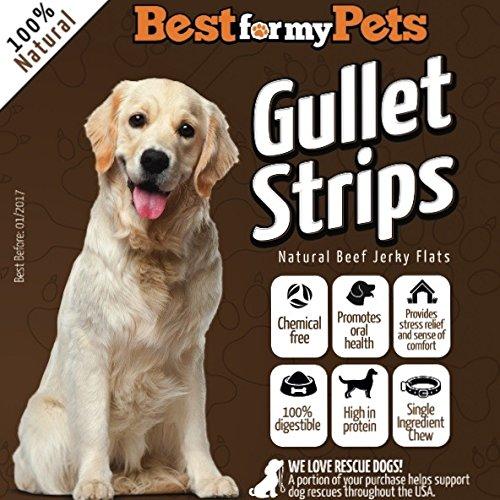 34 off best natural beef jerky for dogs gullet strips hand inspected usda fda approved. Black Bedroom Furniture Sets. Home Design Ideas