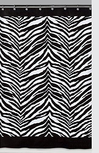 Creative Bath Products Inc. S1050BW Zebra Shower Curtain, Black