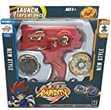 New Beyblade Set Metal Fusion Fight Master Tops + Dual Launcher + 2 Tops Colors and Tops May Vary