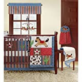 BananaFish Rodeo Roundup 4-Piece Crib Bedding Set