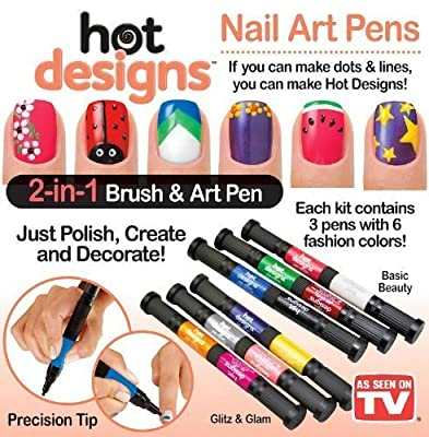Hot Designs Glitz and Glam Nail Art Pens