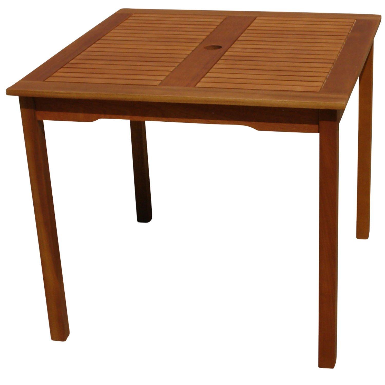 indoba ind 70070 ti serie montana gartentisch aus holz fsc zertifiziert quadratisch mit. Black Bedroom Furniture Sets. Home Design Ideas