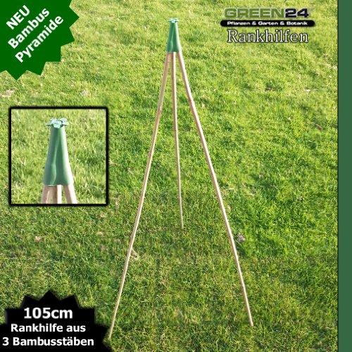 Bambus-Rankhilfen-SET-als-Pyramide-Kletterhilfe-und-Rankgerst-fr-Kbel-Tpfe-und-Beete