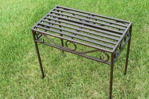 Beistelltisch oder Untergestell aus Metall, im Versailles-Stil, in antiker Bronzeausführung (kleine Größe) – Ideal für Haus und Garten kaufen
