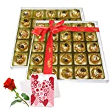 Truly In Love Chocolate Box With Love Card And Rose - Chocholik Luxury Chocolates