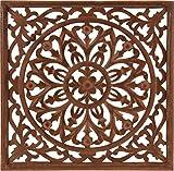 Wandornament Holzornament braun 40x40 cm Holz Ornament Bild...