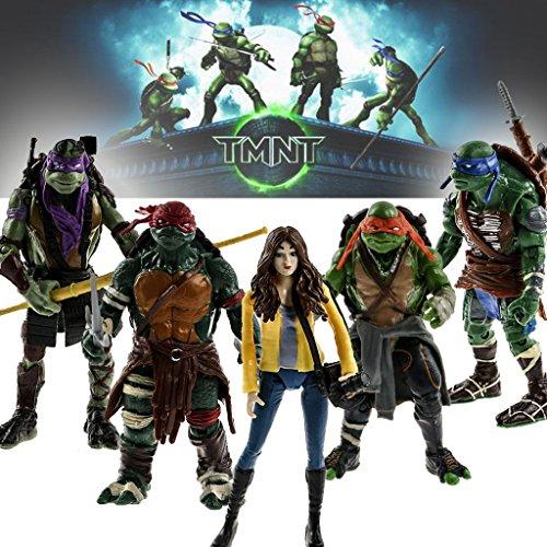 5pcs/lot Tmnt Teenage Mutant Ninja Turtles Action Figure Classic Collection Toys